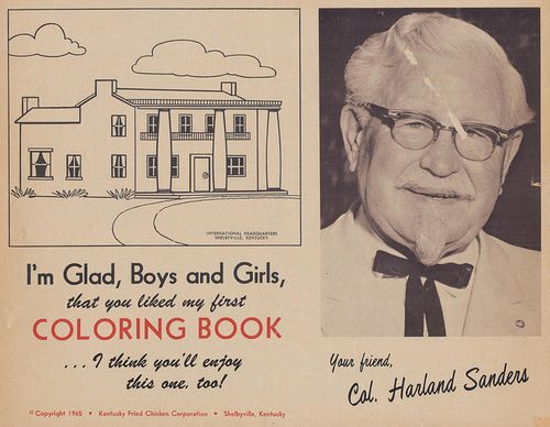 Kfc Coloring Pages