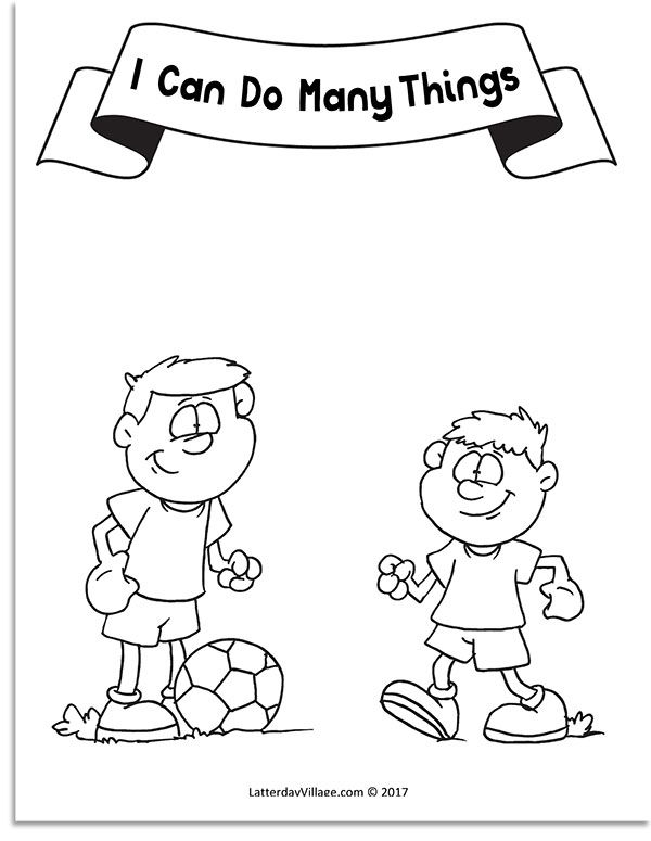 I Can Do Many Things Coloring Page