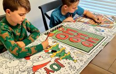 Holiday Giant Table Top Coloring Pages