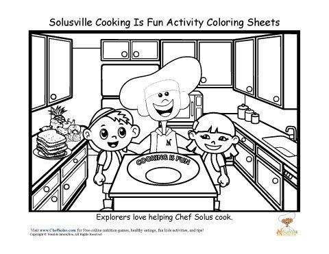 Esky Cook Coloring Pages
