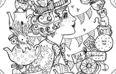 Gothic Alice In Wonderland Coloring Pages