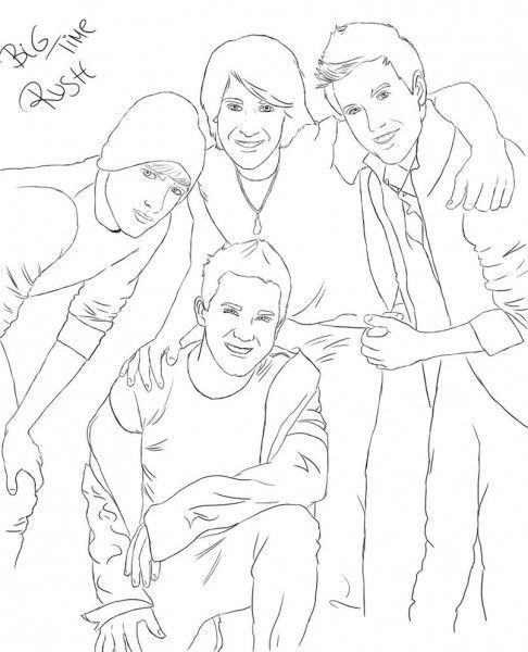 Big Time Rush Coloring Pages Printable