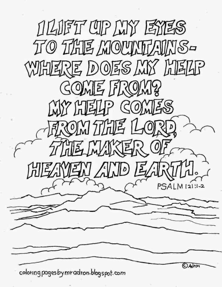 Psalm 121 Coloring Page