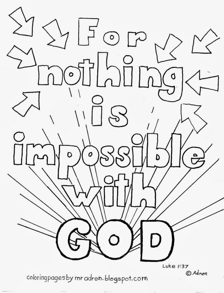 Nothing Is Impossible With God Coloring Pages