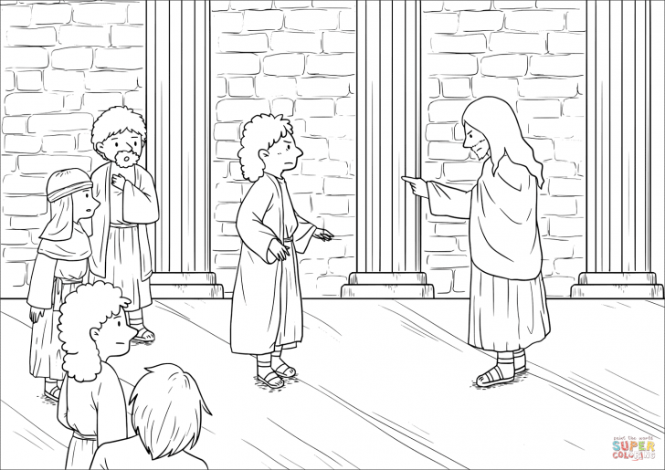 Mark 9 30 37 Coloring Page